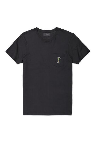 Icon Tee, BLACK/TOTALLY CACTUS