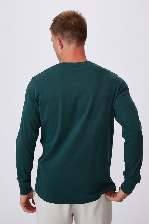 Tbar Long Sleeve T-Shirt, DEEP SEA TEAL/STAY HYDRATED