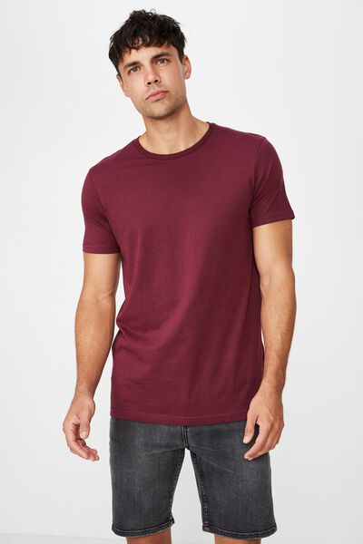 Essential Crew Tee, PORT WINE