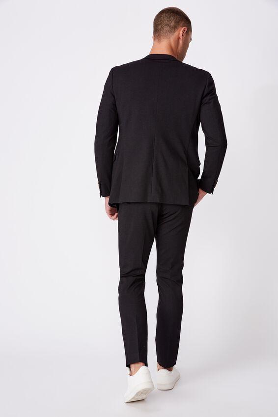 Super Stretch Slim Suit Jacket, KNITTED BLACK