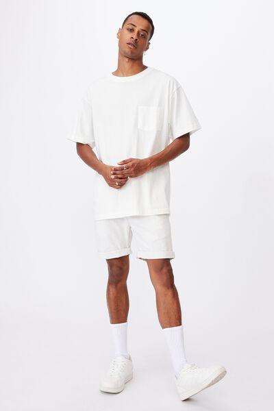 Washed Chino Short, SAND WHITE STRIPE