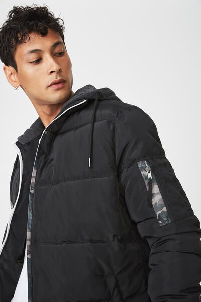 Nz Puffer Jacket, BLACK
