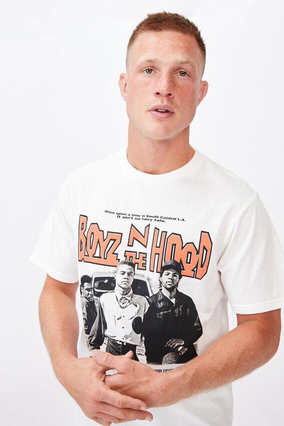Tbar Collab Movie And Tv T-Shirt, LCN SON VINTAGE WHITE/BOYZ N THE HOOD