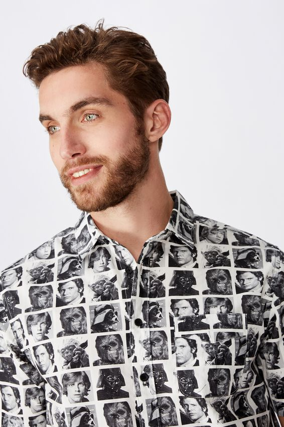 Collaboration Short Sleeve Shirt, STARWARS FACES