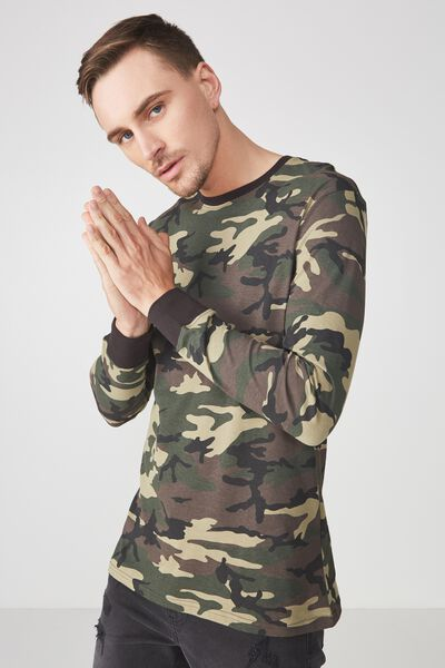 Tbar Long Sleeve, ARMY CAMO