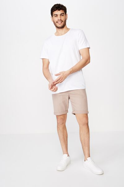 Washed Chino Short, PIGMENT PINK