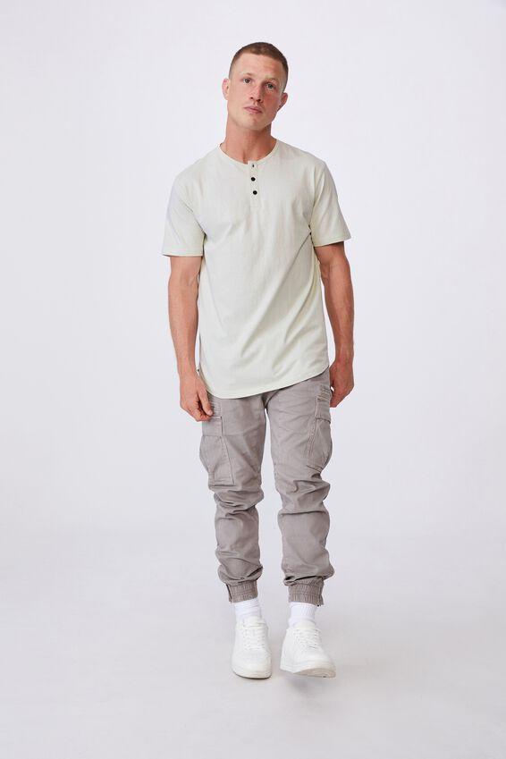 Longline Scoop Henley T-Shirt, PEARL