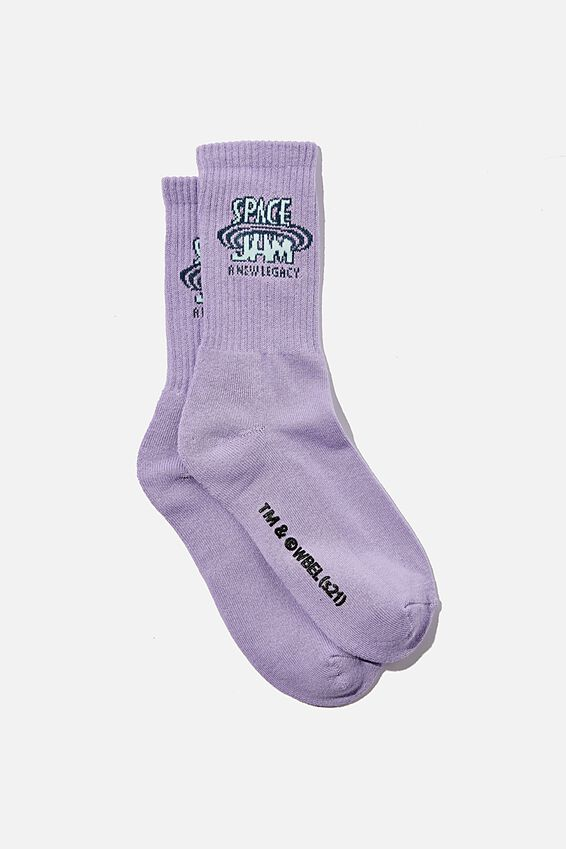 Special Edition Active Sock, LCN WB LAVENDER/SPACE JAM LEGACY