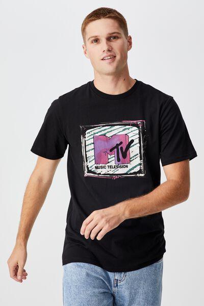 Tbar Collab Pop Culture T-Shirt, LCN MTV BLACK/MTV - SKETCHY TV