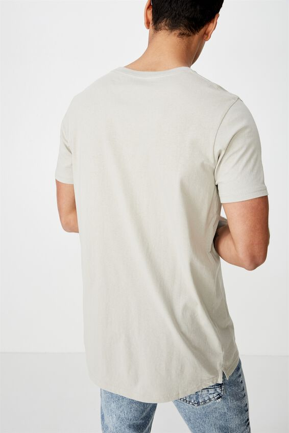 Essential Longline Scoop T-Shirt, SMOKE