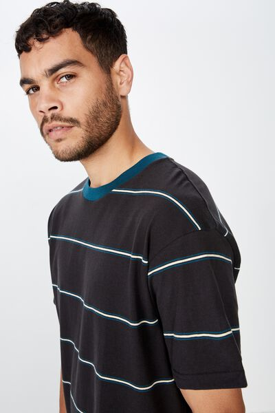 Dylan Tee, WASHED BLACK/DEEP SEA/SEA MIST STRIPE