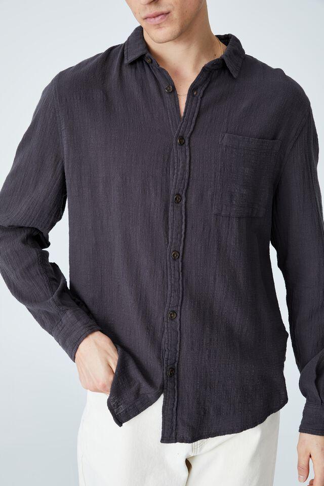 Camden Long Sleeve Shirt, FADED SLATE