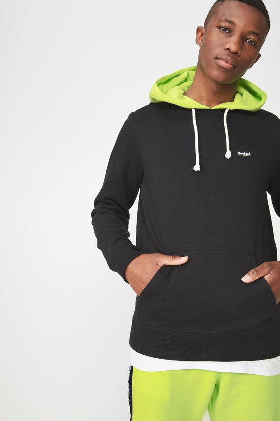 Fleece Pullover 2, BLACK/NEON LIME/ NATURAL DC