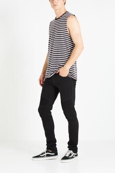 Slim Fit Jean, NEW BLACK MOTO