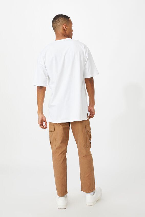 Oversized Droptail Tee, WHITE