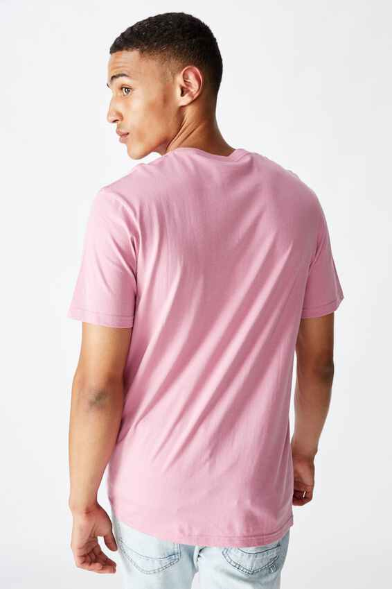 Tbar Text T-Shirt, FADED FUSCHIA/UNKNOWN PROJECTS EMB