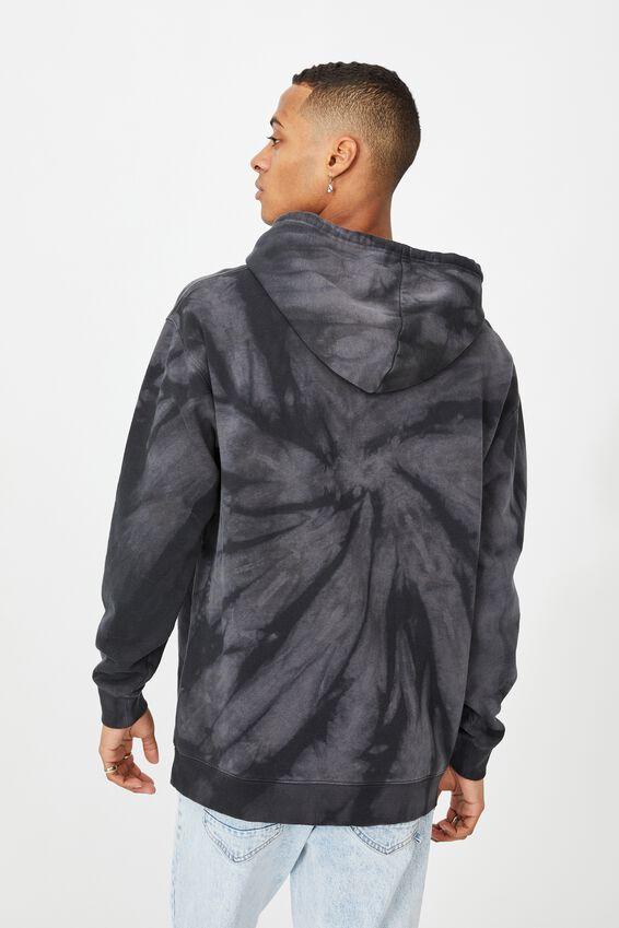 Drop Shoulder Pullover Fleece, NIGHT SWIRL TIE DYE