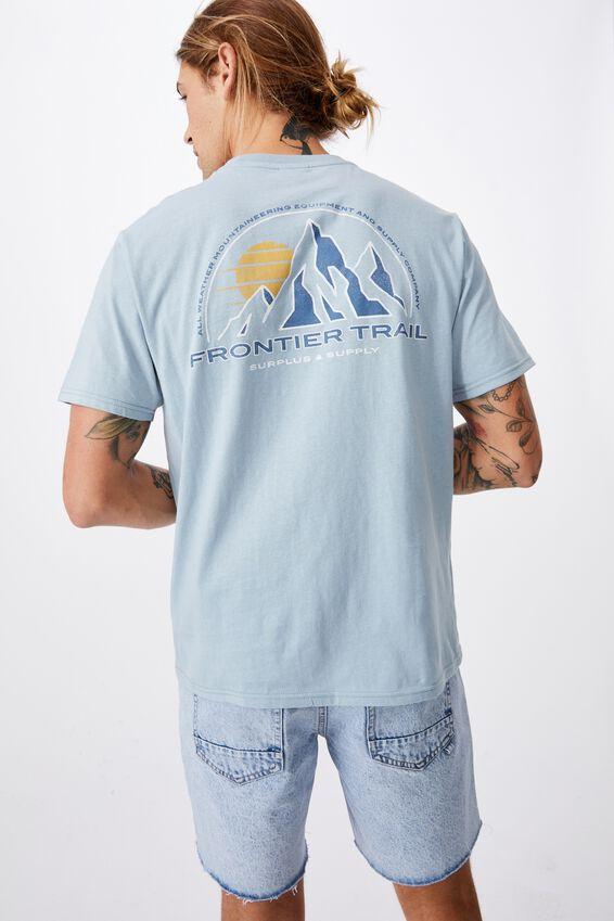 Tbar Souvenir T-Shirt, BLUE HAZE/FRONTIER TRAIL