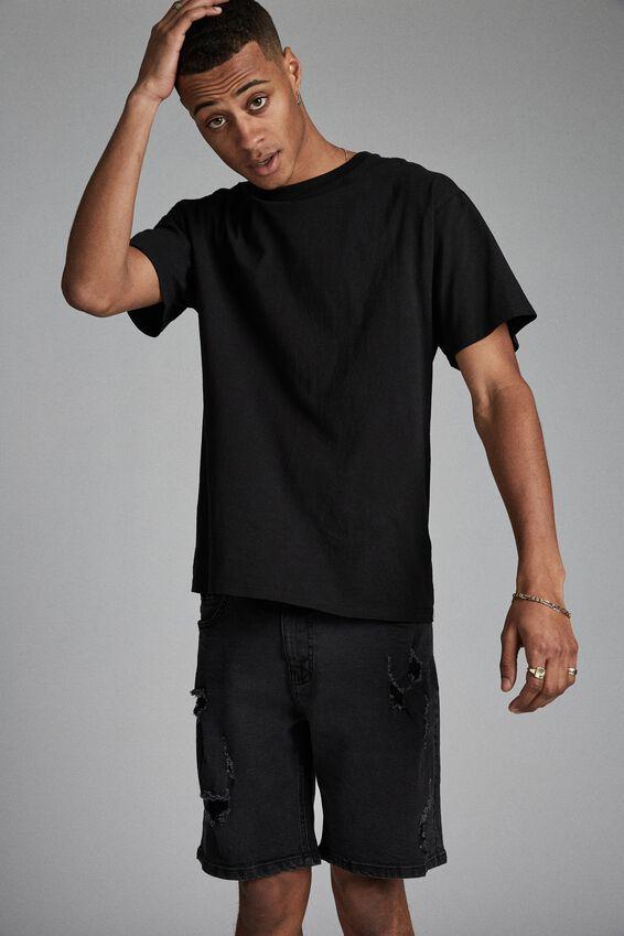 Straight Short, RAVEN BLACK + RIPS