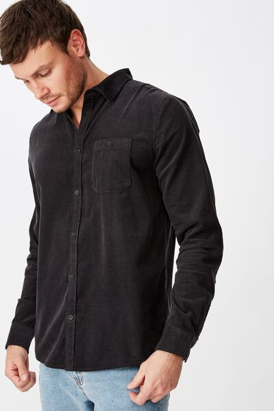 Festival Long Sleeve Shirt, BLACK