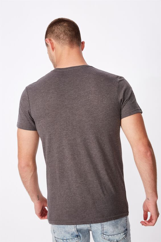 Essential Vee Neck T-Shirt, CHARCOAL MARLE