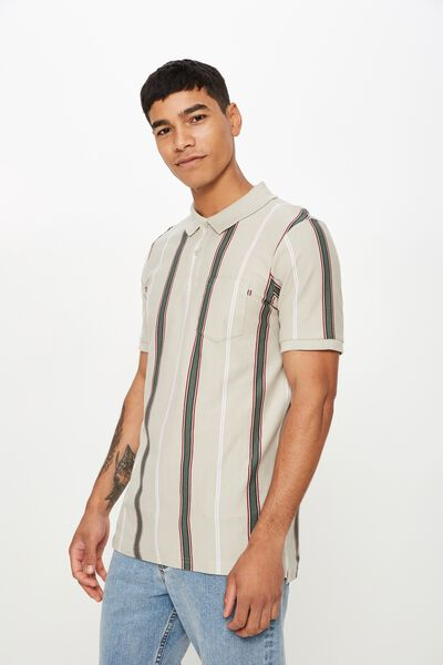 Icon Polo, NATURAL STRIPE