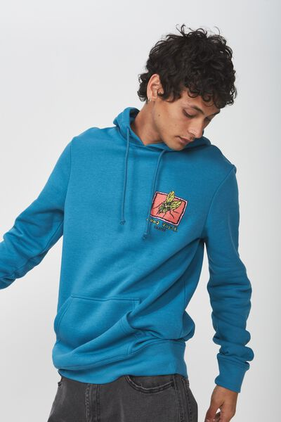 Fleece Pullover 2, METHYL BLUE/GOOD TIME SKATES