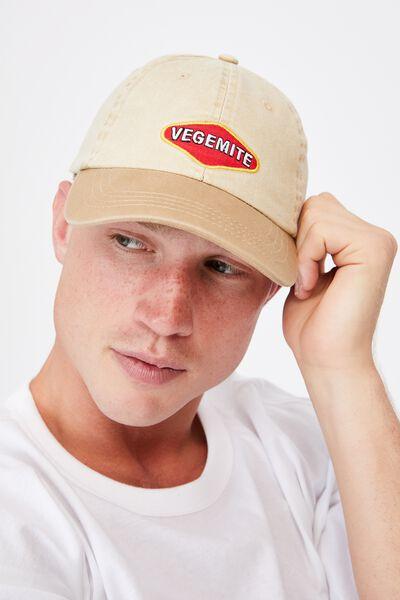 Special Edition Dad Hat, LCN VEGEMITE/WASHED CAMEL