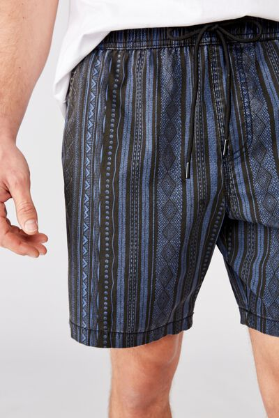 Hoff Short, NAVY TONAL TRIBAL