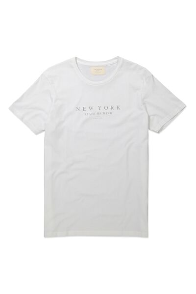 Tbar Tee, WHITE/NEW YORK STATE OF MIND