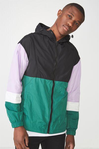 Tri Spray Jacket, BLACK GREEN