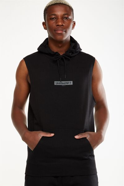 Sleeveless Hood, BLACK/UNTITLED NO 7