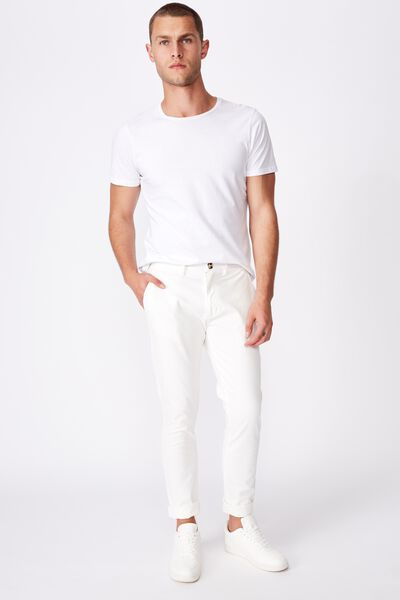 Skinny Stretch Chino, WHITE