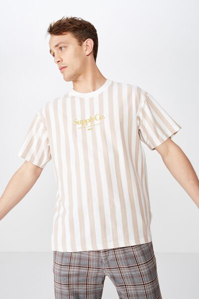 Downtown Loose Fit Tee, VINTAGE WHITE/DIRTY PINK/SUPPLY CO