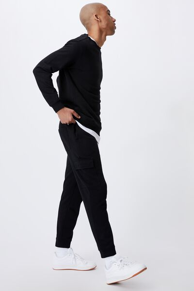 Trippy Slim Trackie - Cargo, PEACHED BLACK