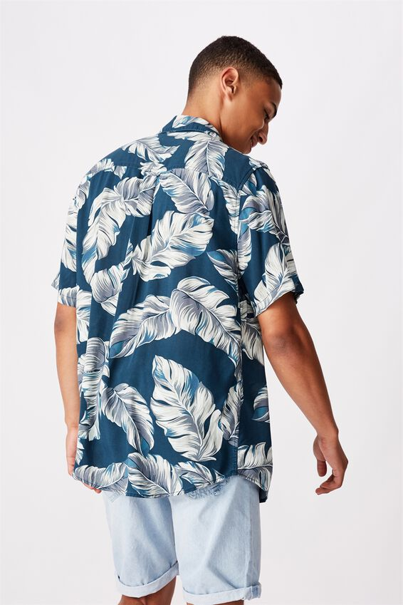 Short Sleeve Resort Shirt, INDO FLORAL