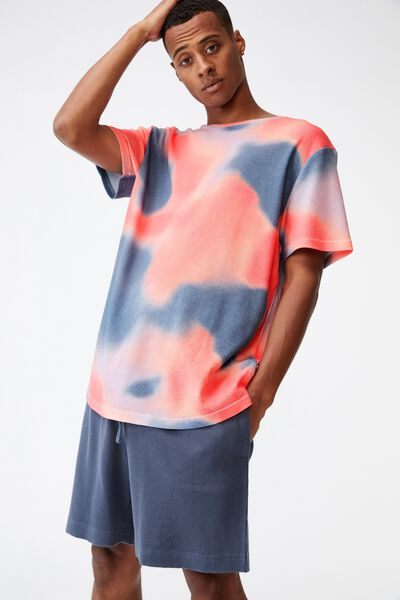 Lounge T-Shirt, ORANGE TIE DYE