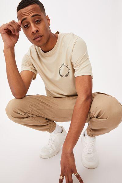 Tbar Street T-Shirt, PALE SAND/LOS ANGELES CIRCLE