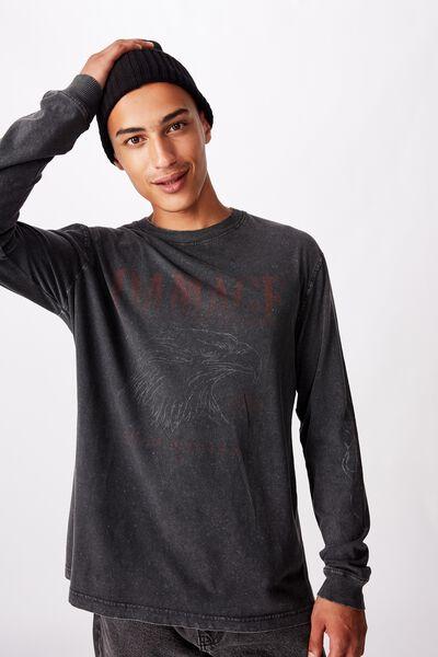Bondi Long Sleeve, WASHED BLACK/DAMAGE