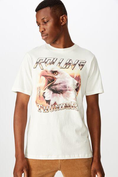 Tbar Moto T-Shirt, SK8 VINTAGE WHITE/ROLLING THUNDER