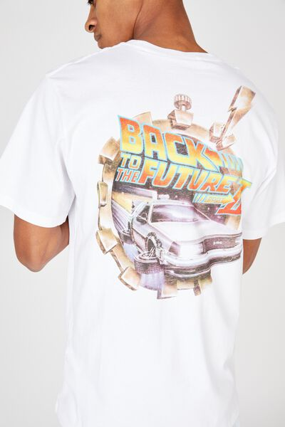 Tbar Collab Movie And Tv T-Shirt, LCN UNI WHITE/BACK TO THE FUTURE 2
