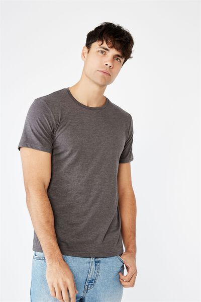 Essential Crew T-Shirt, CHARCOAL MARLE