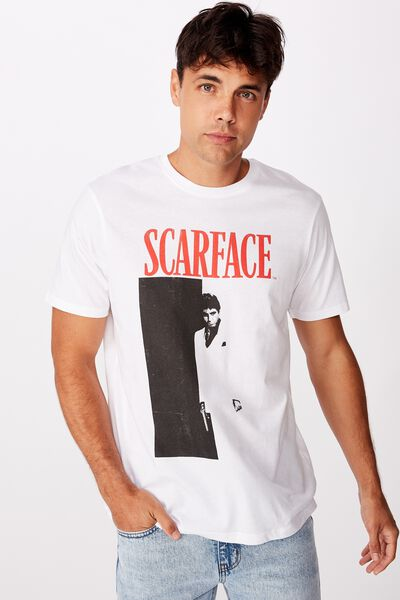 Tbar Collab Movie And Tv T-Shirt, LCN UNI WHITE/SCARFACE - POSTER