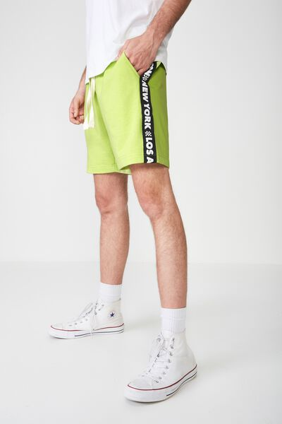 Volley Jogger Short, NEON LIME/BLACK 5 CITIES