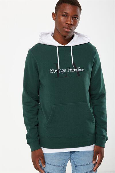 Fleece Pullover 2, FERN GREEN/WHITE/LA STRANGE PARADISE