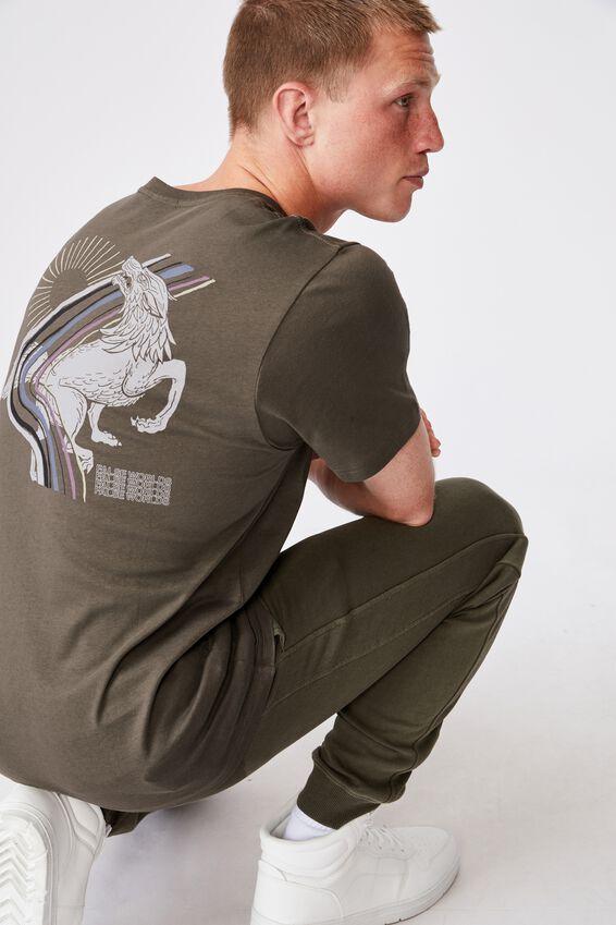 Tbar Art T-Shirt, MILITARY/FALSE WORLDS