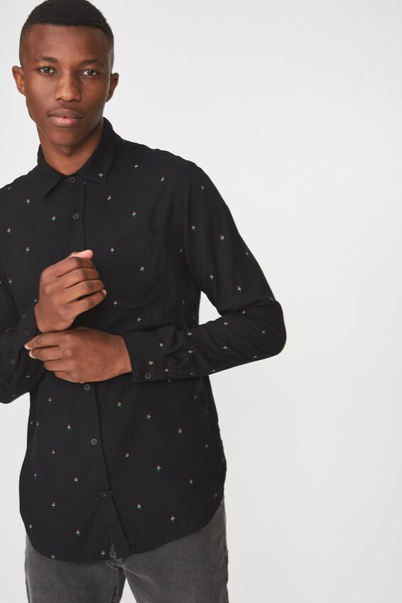 91 Shirt, BLACK SPACED GEO