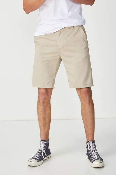 Washed Chino Short, WASHED DESERT