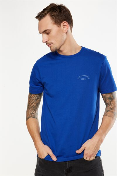 Tbar Tee 2, ROYAL BLUE/CHELSEA
