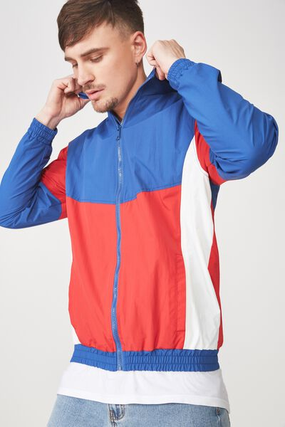 Retro Track Jacket, COBALT/RED